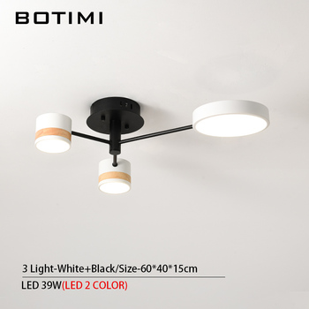 BOTIMI Home Decor LED Ceiling Lights For Living Room Round Metal Ceiling Lamps Surface Mounted Dining Lustres Bedroom luminaires 14
