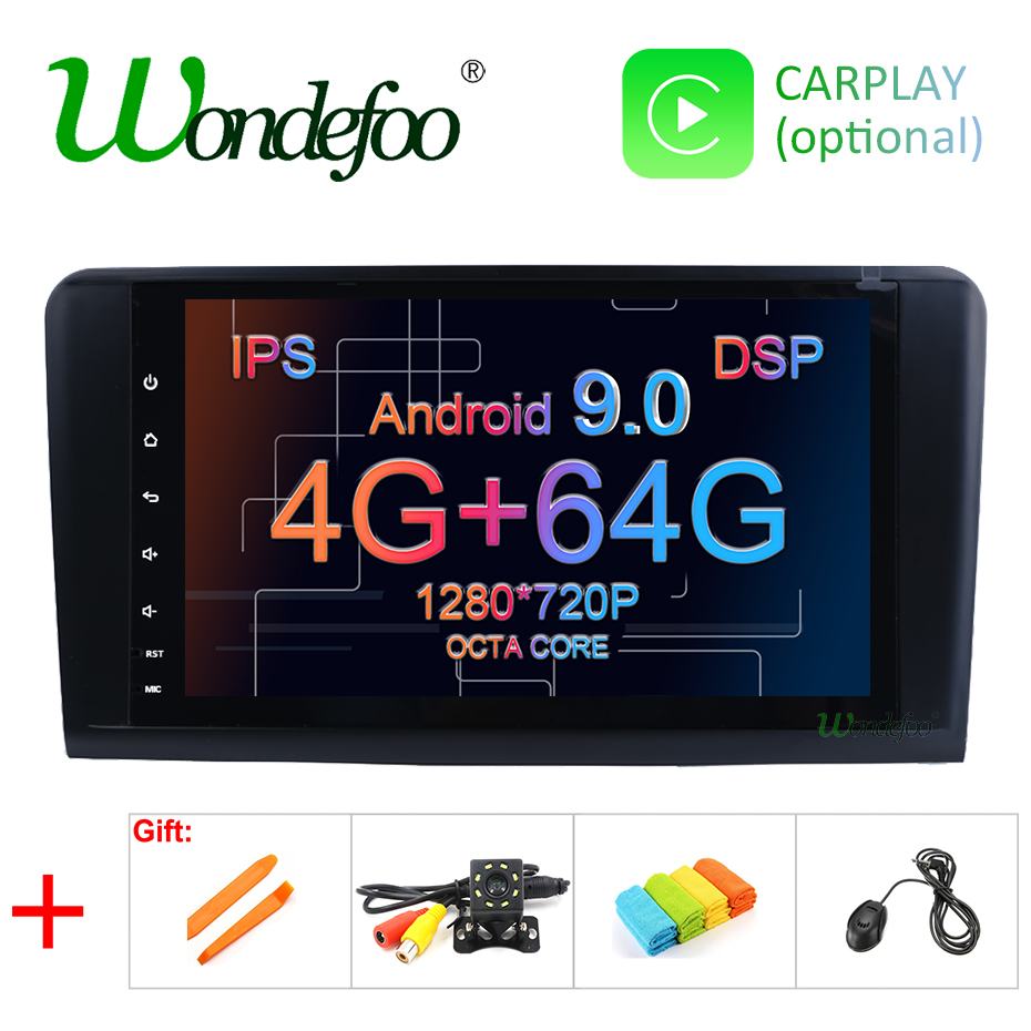 DSP Android 9 0 4G 64G 8 CORE Car Radio GPS For Mercedes Benz ML GL