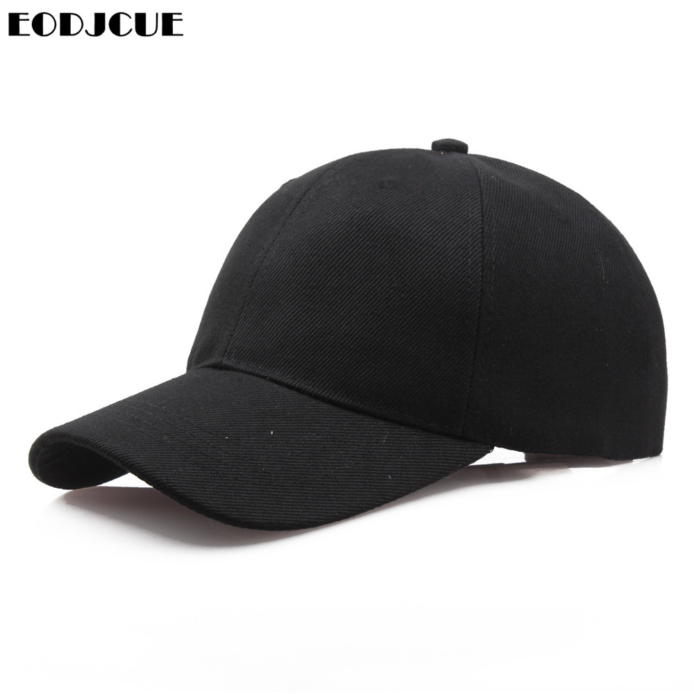 Factory Price! Men Baseball Caps Summer Unisex Solid Color Plain Curved Sun Visor Hip-Hop Cap Hat Women Adjustable Caps
