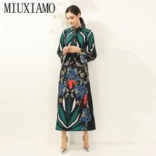 Платье miuximao женское с принтом листьев элегантное свободное