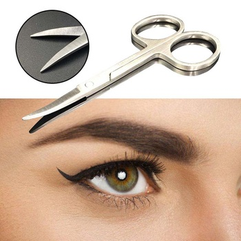 цена на 1Pc Stainless Steel Small Eyebrow Nose Hair Scissors Cutter Manicure Facial Trimming For Makeup Beauty Nail Cutting Tool