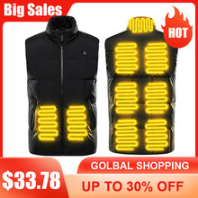 9 Areas Heating Vest Jacket Men #8217 S Outdoor USB Infrared Winter Electric Heating Waistcoat Thermal Warm Clothing cheap CN(Origin) Fits true to size take your normal size warmthtm Cotton Blindly Drop ship Wholesale CSV order