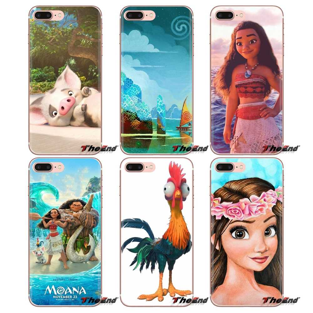 Silicone Shell Case Para iPhone 5 XS Max XR X 4 4S 5S 5C SE 6 6S 7 8 além disso Samsung Galaxy J1 J3 J5 J7 A3 A5 Waialik Moana Princesa