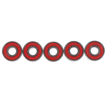 5Pcs Red ABEC-5 608-RS Skateboard Roller Sealed Ball Bearings 8x22x7mm image