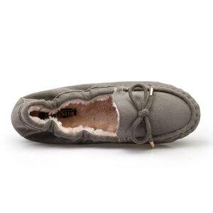 Image 5 - Giày Nữ Mùa Đông 2019 Thương Hiệu Thiết Kế Giày Oxford Cho Nữ Cho Nữ Khóa Bãi Xanh Đen Nữ Cuộn Trứng Mềm Mại Ba Lê giày