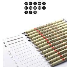 Pigma Micron – stylo à dessin, brosse douce, lot 005 01 02 03 04 05 08 1.0, marqueurs d'art