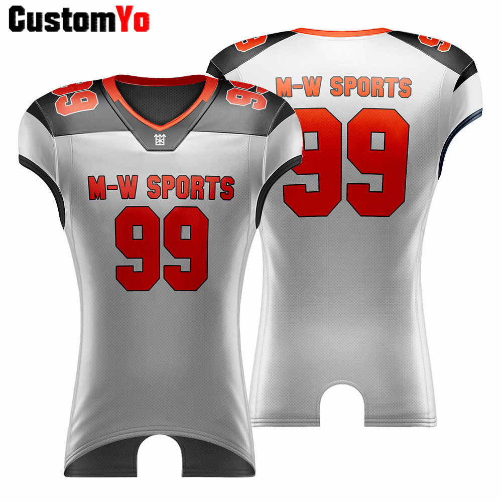 Professional Tournament Custom American Football Jerseys Training Quick Dry Kids Football Jerseys image