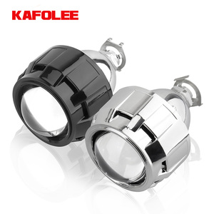 KAFOLEE 2.5 inch Mini Bi Xenon HID Projector Headlight Lenses Retrofit Fit H4 H7 H11 9005 H8 Car Head Lamp W/ Gating Gun Shrouds