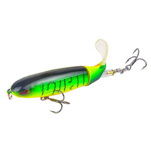 Image 5 - 8pcs/lot Whopper Popper 10cm 13.2g  Fishing Lure Artificial Wobbler Hard Bait Plopper Soft Rotating Tail For Carp Fishing Pesca