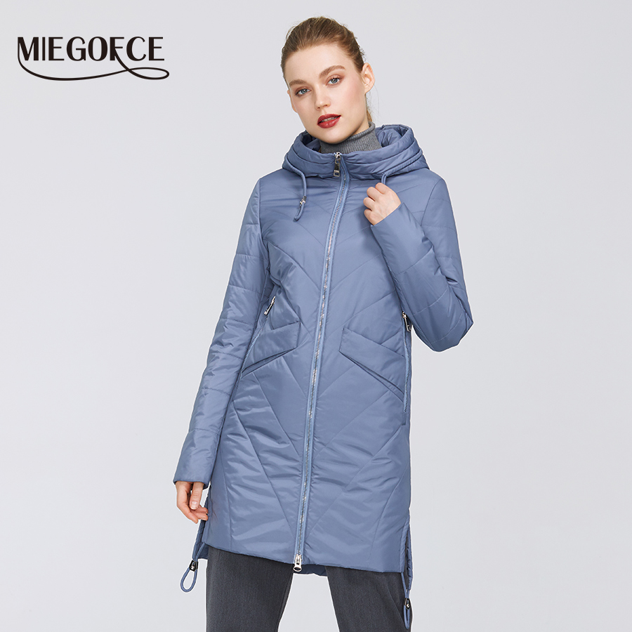 MIEGOFCE 2020 Women Parkas Cotton Padded Jacket New Spring Designs Women's Jackets With Hood Long Warm Fashion Coats For Mom Hot