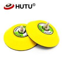 Tampon de ponçage 3 pouces, disque abrasif, tampon de polissage, support en plastique pour ponceuse à Air, polisseuse de voiture