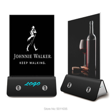 цена на For Restaurant & Coffee Advertising Marketing Promotion Table Desk Top Sign Board+Poster+Frame Holder Stand Power Bank Charger