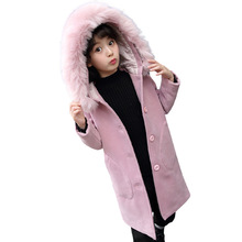jacket girl  windbreaker  girls coats  kids fur coat  baby girl winter clothes  girls jackets brand baby infant girls fur winter warm coat 2018 cloak jacket thick warm clothes baby girl cute hooded long sleeve coats jacket