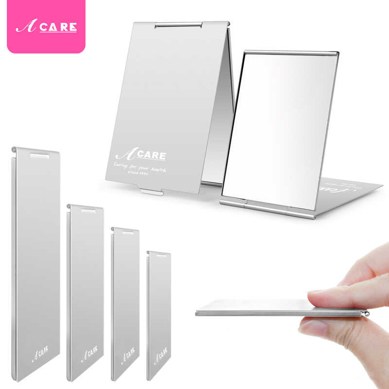 Card Mirrors Makeup Shatter-Proof HD Ultra thin Pocket Sliver Mirror Compact Maquillaje Portable Protective Aluminum Shell