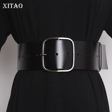 Cummerbunds Women Belt Slim Black Xitao-Hole New-Style Fashion Metal Patchwork ZY5038