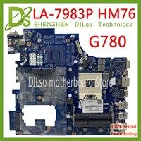 Kefu LA-7983P para lenovo g780 para lenovo qiwg7 LA-7983P hm76 pga989 ddr3 placa-mãe teste 100% original