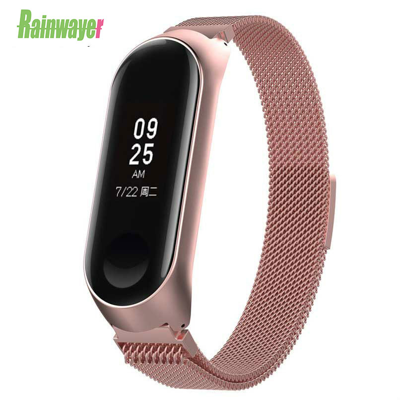 Metal Strap For XiaoMi Mi Band 3 4 Magnet Colorful Bracelet Watch Mi Band 3 4 Stainless Steel Strap Wrist For Xiaomi Miband 3 4