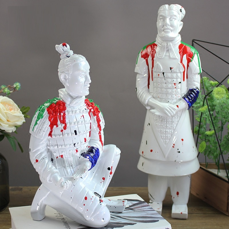 Modern Chinese Style Terra Cotta Warriors Statue Art General Commission FigurineCreative Resin Craft Decorations For Home R3938|Statues & Sculptures| |  - title=