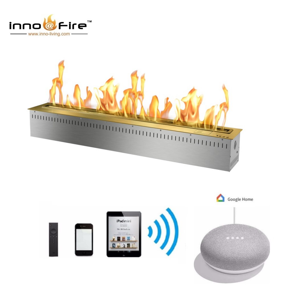 On Sale 1.5M 60 Inch Intelligent Ethanol Burner Smart Remote Fire Place