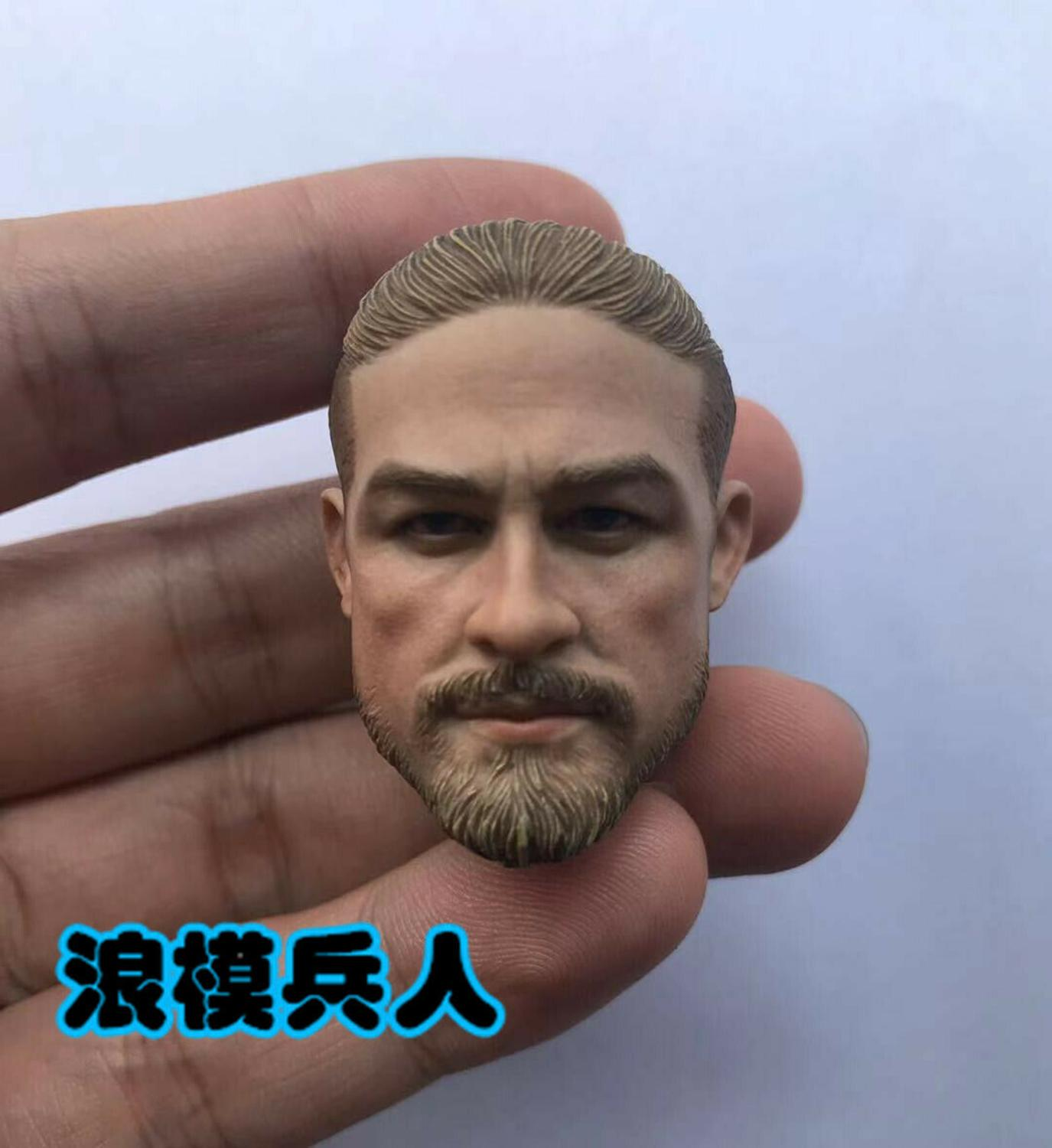 """1//6 Charlie Hunnam Head Sculpt Head Carved Model F 12/"""" Male Action Figure Body"""