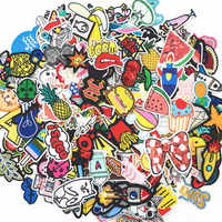30PCS/lot Embroidery Patches Mixed Random Cute Cartoon Iron On Patches for Clothing Stickers On Clothes Kids Jeans Summer Style