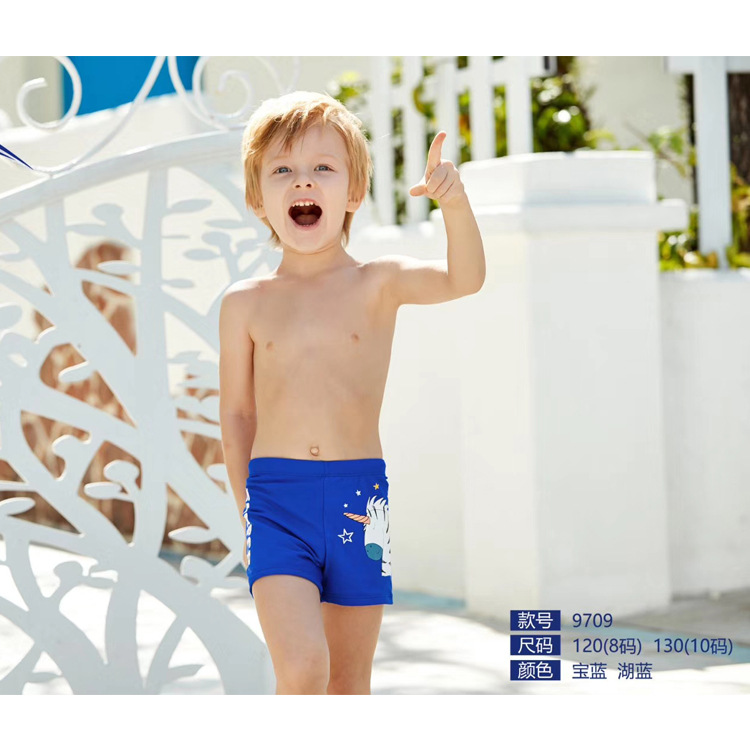 New Style BOY'S Swimming Trunks Cartoon BOY'S Swimsuit Children Boy Boxers 6-9-Year-Old