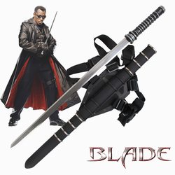 For Daywalker Sword Blade Stainless steel Movie Swords Leather Back Sheath Zinc Handle Collectible Supply