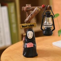 Faceless Man Led Light Miyazaki Animation Spirited Away No Face Man Night Light Lamp Kids Room Decoration Kids Birthday Gifts