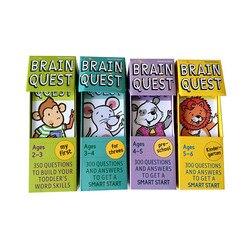 Английская версия интеллектуальных карт развития Brain Quest, наклейки для книг, вопросы и ответы, смарт-карта для начинающих детей