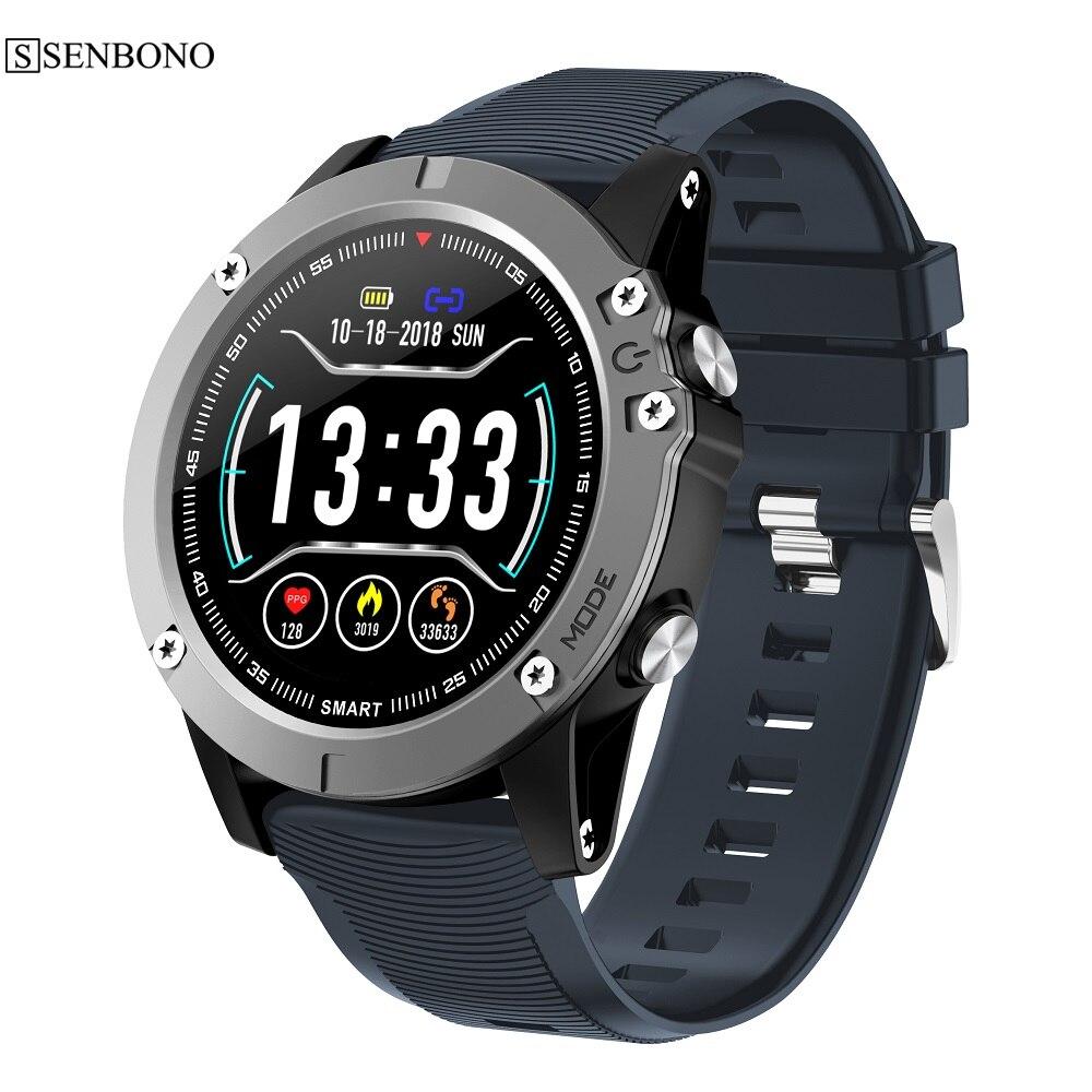 Reloj inteligente SENBONO Q58 Monitor de ritmo cardíaco podómetro IP68 reloj inteligente impermeable para hombres y mujeres para teléfono Android IOS