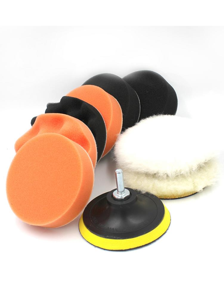 10PCS 4 Inch Car Polishing Disc For M10 Threaded Tools Car Polishing Pad Set Sponge Polishing Waxing Buffing Pads Polishing Care