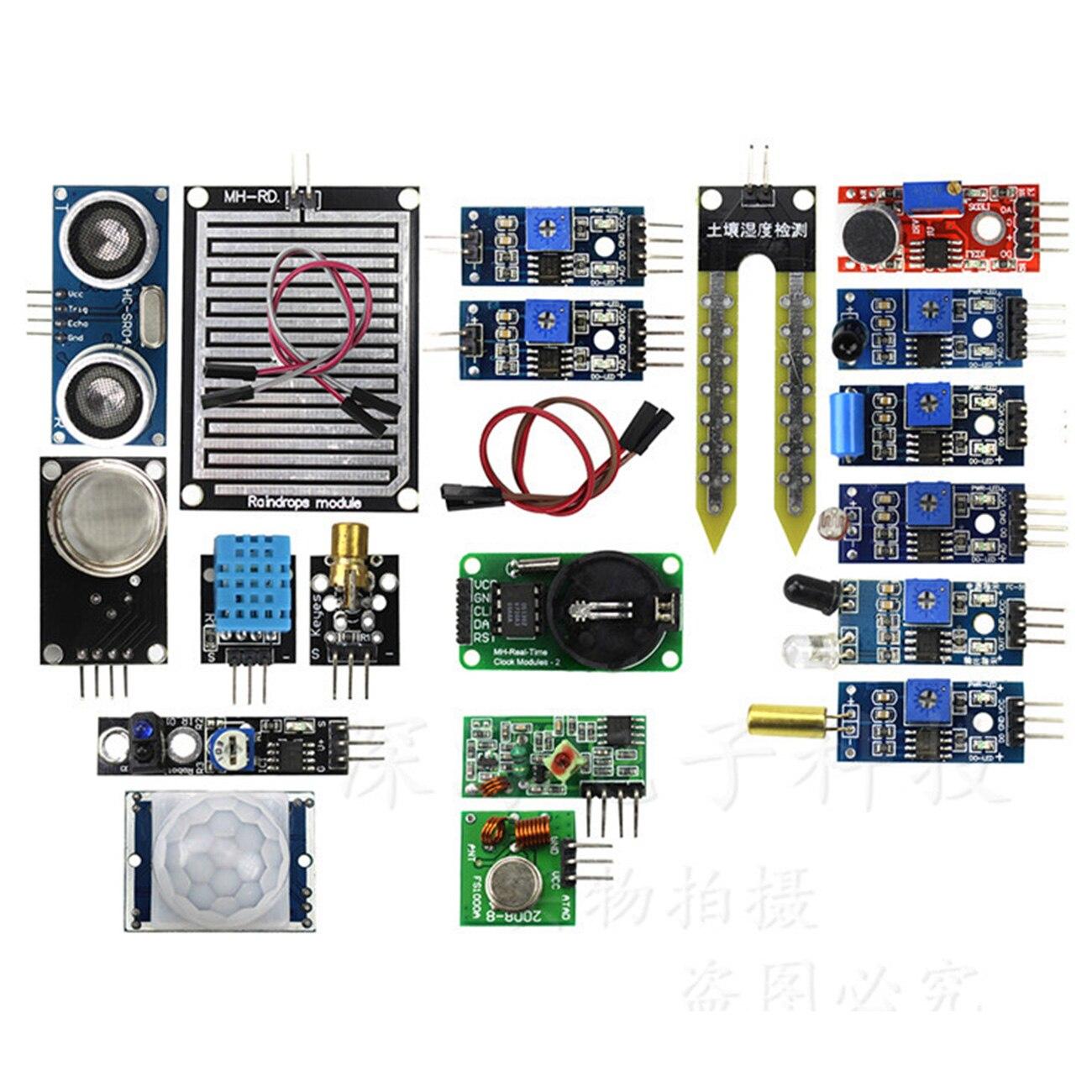 16 in 1 Module Sensor Kit for Arduino UNO Mega2560 Nano Raspberry Pi 2 3 Model B