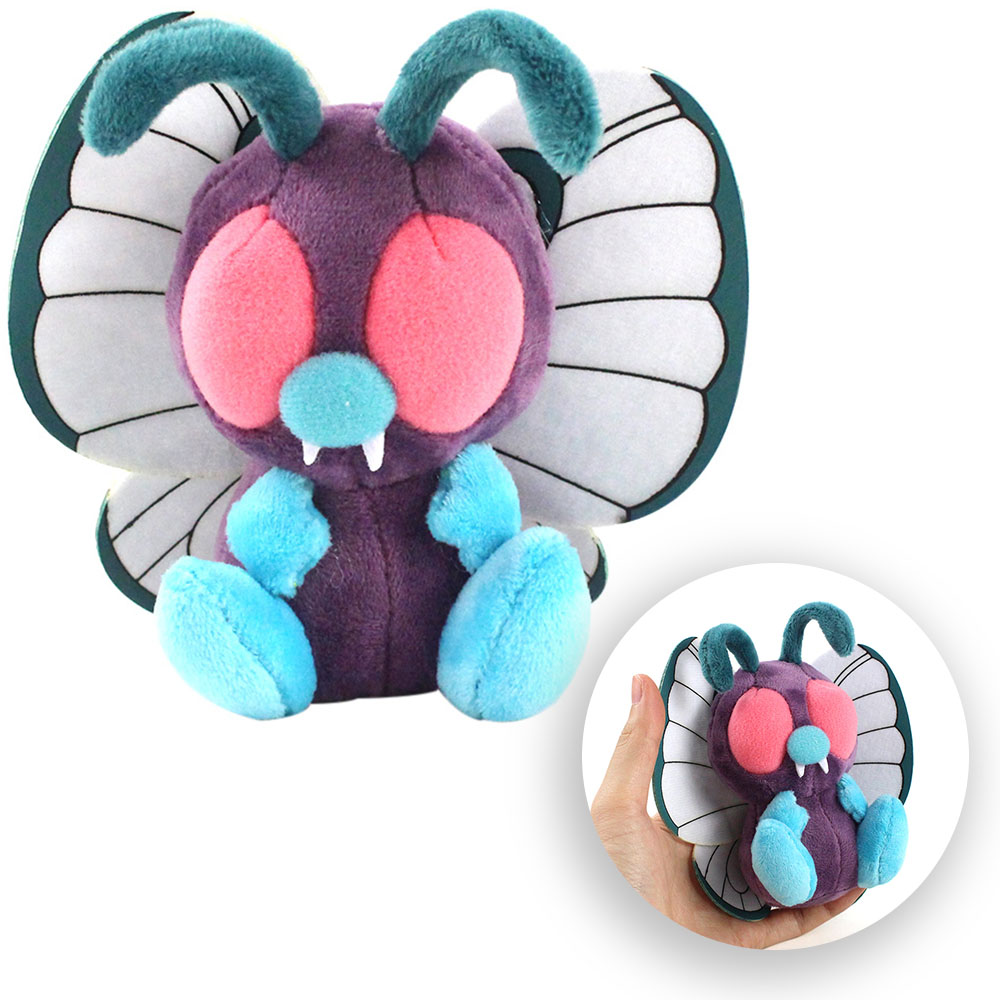 11cm Anime Butterfree Soft Plush Toys Hi-Q Anime Cartoon Stuffed Animal Plush Peluche Toys Soft Stuffed Animals Cute Cartoon Toy