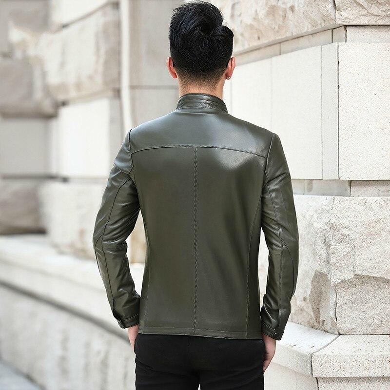 Genuine Leather Jacket Men Korean Sheepskin Coat For Men Slim Leather Jackets And Coats Chaqueta Cuero Hombre L18-5002