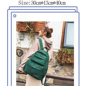Image 5 - 2019 neue Wasserdichte Nylon Rucksack für Frauen Reisen Rucksäcke schoolobag Weibliche Schule Tasche für Teenager Mädchen Buch tasche Mochilas