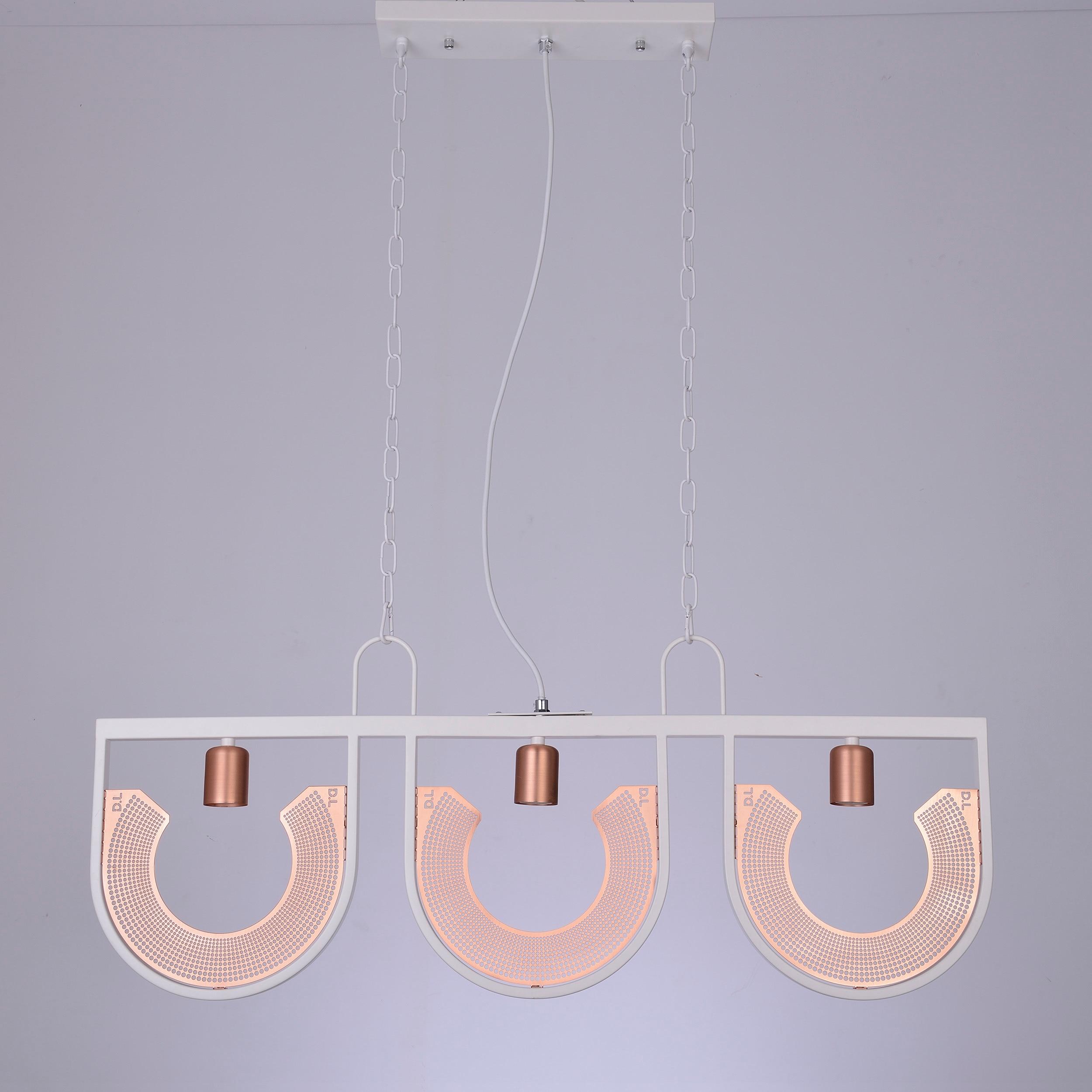 Latest Metal Light Iron U Shades Three Heads Chinese Pendant Light Kitchen Dining Bar Lamparas De Techo Colgante
