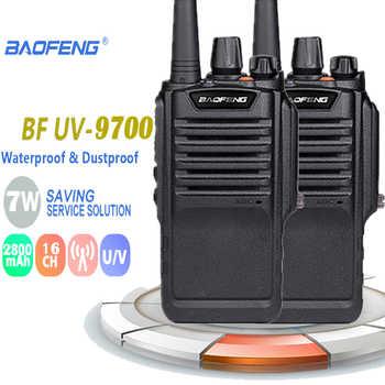 2 uds $TERM impacto Baofeng impermeable BF-9700 IP67 Walkie Talkie 7 W 12 horas UHF y VHF 400-520 MHz, Antena de Radios Motorola radio de jamón