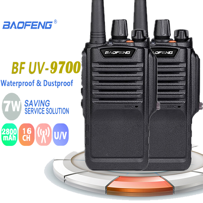 2PCS Baofeng Waterproof BF-9700 IP67 Walkie Talkie 7W About 12 Hours UHF&VHF 400-520MHz Antena Diamond Motorola Radios Ham Radio