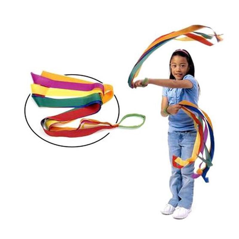 Rainbow Fire Twirl Ribbon Dancer Gymnastics Kids Equipment Sensory Integration Kindergarten Children Games