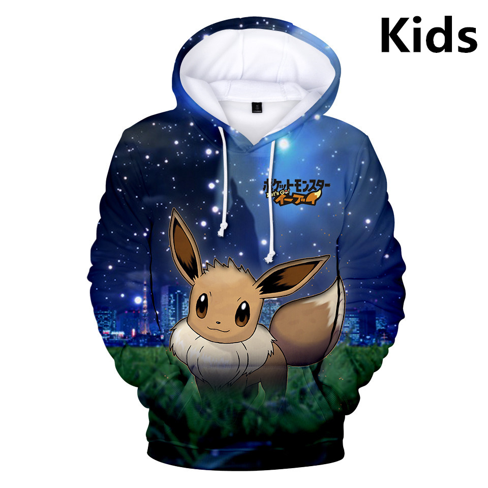 2 To 13 Years Pokemon Pikachu Clothing Children Kids Boys Girls Long Sleeve Hoodies Sweatshirt Outerwear Child Hoodie Jacket