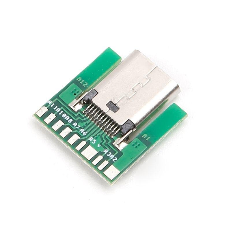 2PCS USB 3.1 Type C Male DIY Solder Cable Plug SMT Socket Connector PCB Board