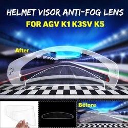 Wyczyść Anti-fog Film motocykl kask fullface obiektyw Anti-fog daszek dla K1 K3SV K5