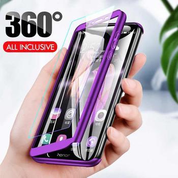 Luxe 360 Volledige Cover Telefoon Case Voor Huawei Nova5T P30 P20pro P20lite P30lite Bescherming Case + Voor Gehard Glas Telefoon armor