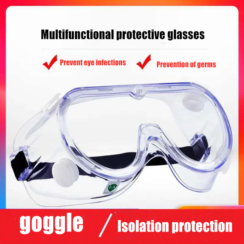 Medical Goggles Anti-fog Saliva Eye Protection Antibacterial Isolation Dust-proof Sand-proof Anti-splash Protective Glasses