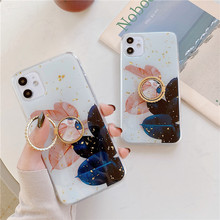 Art Gold Leaf Flowers Leaf Phone Case For iphone 11 11Pro Max XS Max X XR 6 S 7 8 Plus Cover Soft TPU Silicone Cases Retro Coque leaf print iphone case