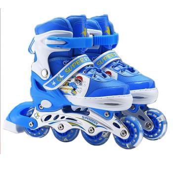 New Kids Inline Skates Fashion Adjustable Size Breathable Glowing Roller Skates Shoes For Kids Boy Girl Skating Sneakers Boots new shoes light double wheel breathable glowing walking shoes led roller skates 3 colors unisex students walking sneakers