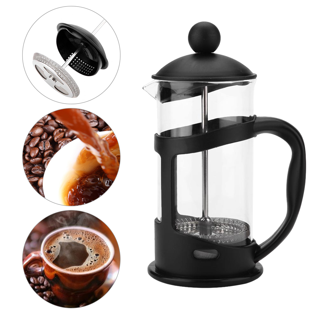 Coffee Pot Method French Press Pots Heat-resistant Percolator Tool Glass Tea Cafetera Filter Cup Barista Tools 350 600 1000ml