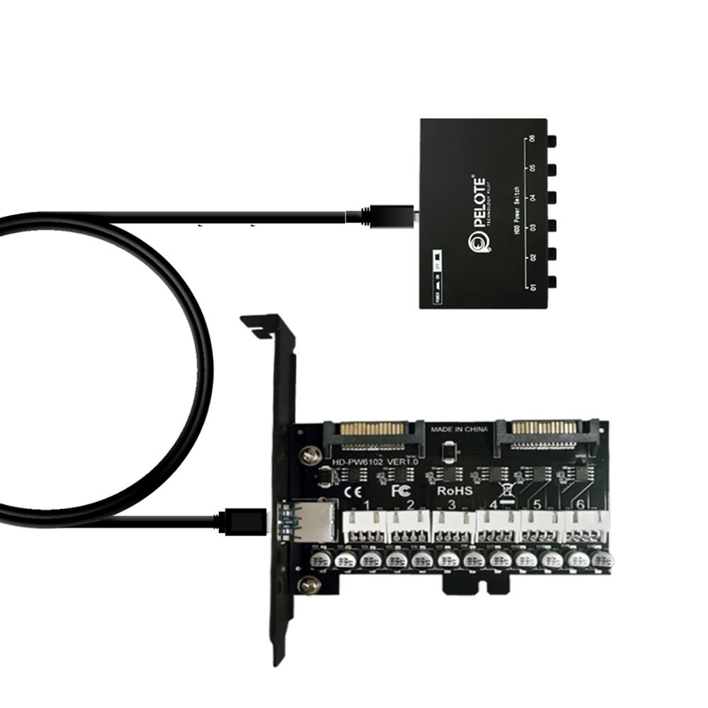 PELOTE HD-PW6102  HDD Power Switch Control Hard Drive Selector Sata Drive Switcher For Desktop PC Computer