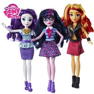 Image 2 - Zabawki My little pony Equestria Girls Rainbow move Twilight figurki klasyczne na prezent urodzinowy dla dziecka dziewczyna Bonecas