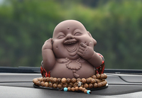 Free Shipping Cute Car Creative Decoration Maitreya Buddha Ceramic Auto Interior Accessories Decoration Ornament